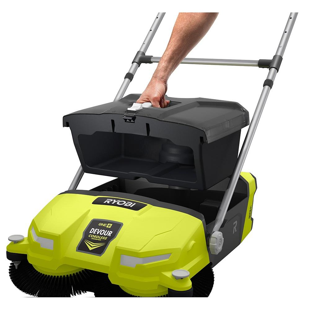 Ryobi 18-Volt 4.5 Gal. Devour Debris Sweeper (Tool-Only) P3260 and Toucan City Nitrile Dip Gloves 5-Pack by Toucan City (Image #4)