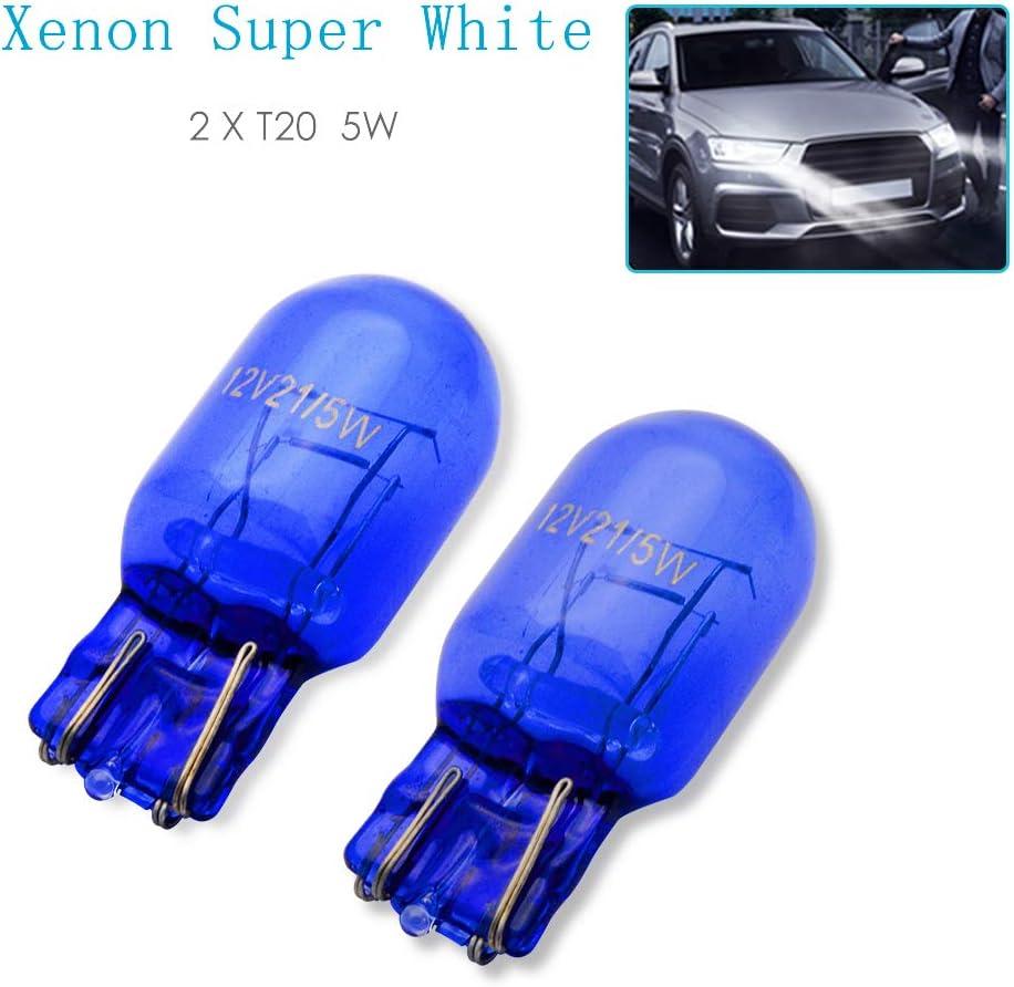 blu Set di 2 luci di marcia diurna W21W T20 21 W senza errori Canbus. 12 V