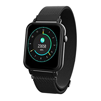 iCoverCase Reloj Inteligente Bluetooth Smartwatch Hombres Mujeres IP67 Impermeable Outdoor Deportes Fitness Tracker con Pulsómetro, Monitor de ...