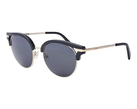 09e8365d00 Amazon.com  Balmain sunglasses (BL-2116 01) Shiny Black - Gold ...