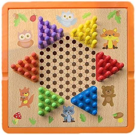 Toys of Juego de Damas Chinas y Gobang (Cinco en una Fila) - Juego de Mesa Familiar 3 en 1 - Juegos de Mesa de 6 años A: Amazon.es: Hogar