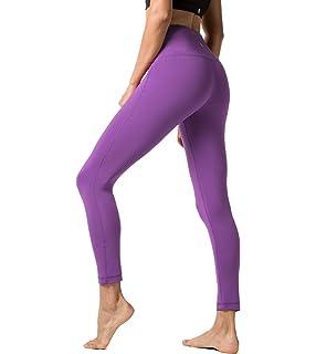 60e9cfaf3aab1 LAPASA Yoga Pants for Women Squat-Proof Sports Leggings High Waist Hidden  Pocket Plus L01