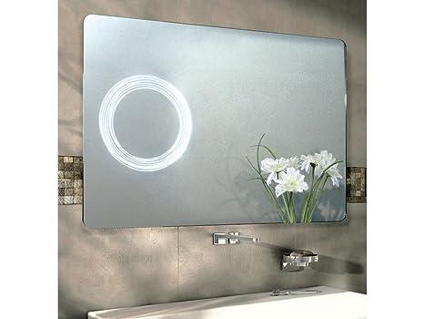 Infabbrica specchio bagno led rettangolare elsa dimensioni: 80 x
