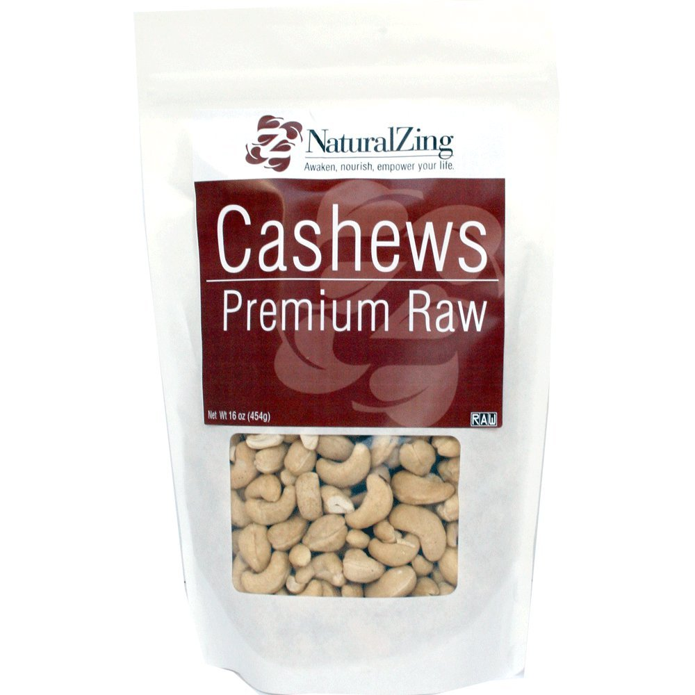 Raw Organic Cashews-16 ozs.