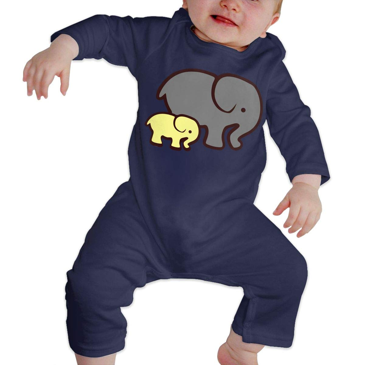 LBJQ8 Yellow Elephant Mom /& Baby Newborn Toddler Baby Soft /& Breathable Bodysuit Outfits Clothes