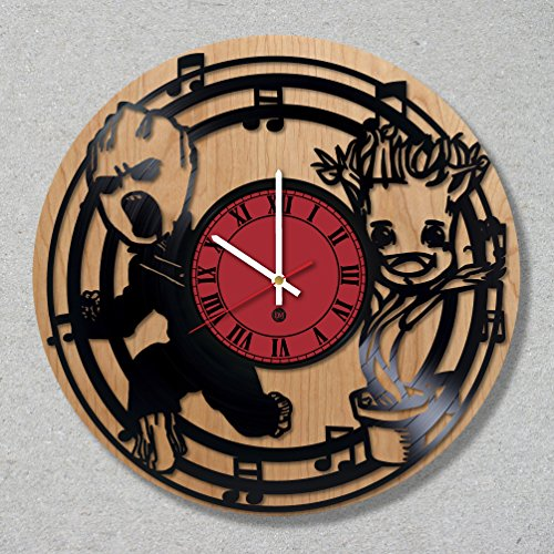 [Contemporary Vinyl Record Wood Wall Clock Wooden I Am Groot Baby Comics Guardians of the Galaxy decor unique gift ideas for friends him her boys girls World Art Design] (Thanos Movie Costume)