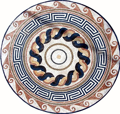 Greco-Roman Mosaic Art Tile - Galene