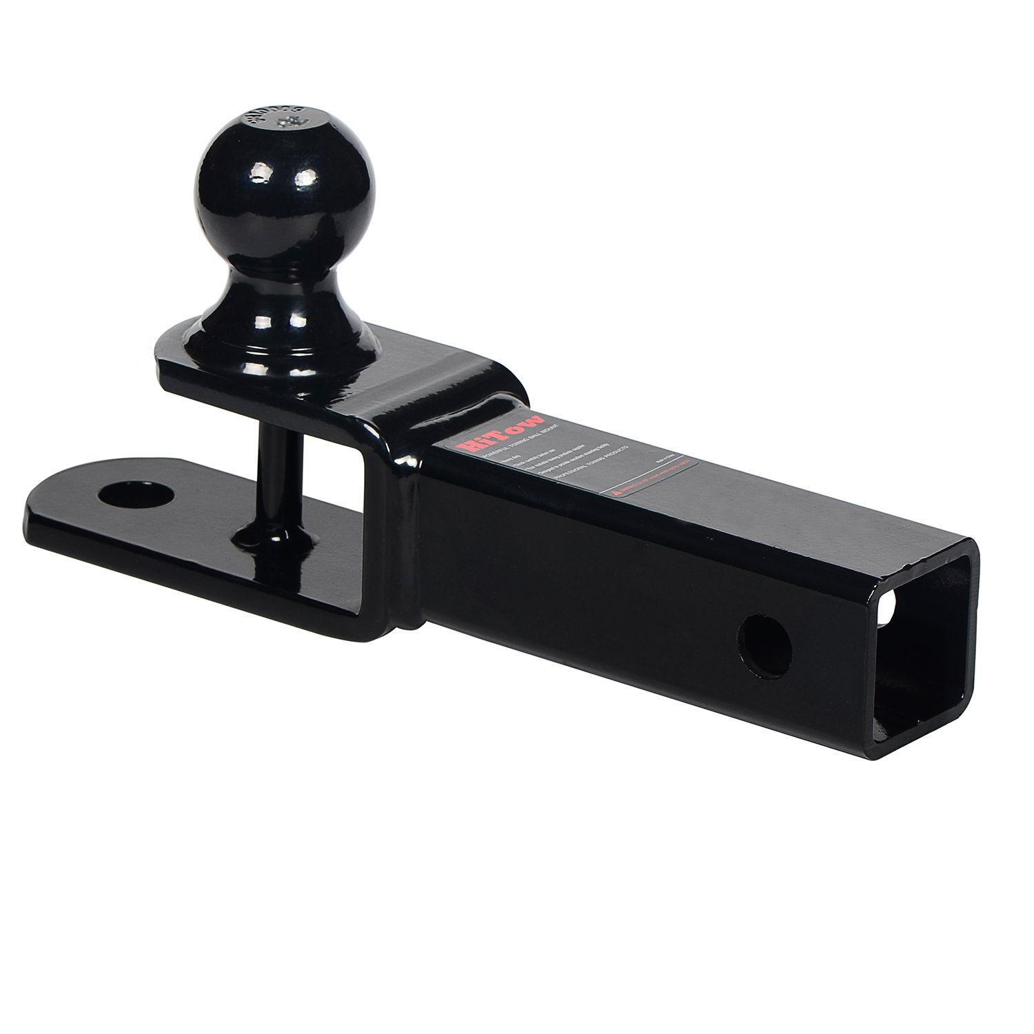 Hollow Shank HiTow 3-in-1 ATV Towing Hitch Ball Mount adapter with 2 Ball