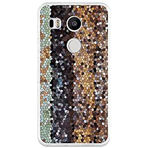 Funda de Gel Silicona TPU Flexible para Nexus 5X BeCool Mosaico Madera Abstracto