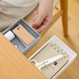 LAIBUY 2 Pack Under Desk Drawer Organizer, Self-Adhesive Pop-Up Hidden Desktop Storage for Pens Pencils Phones…
