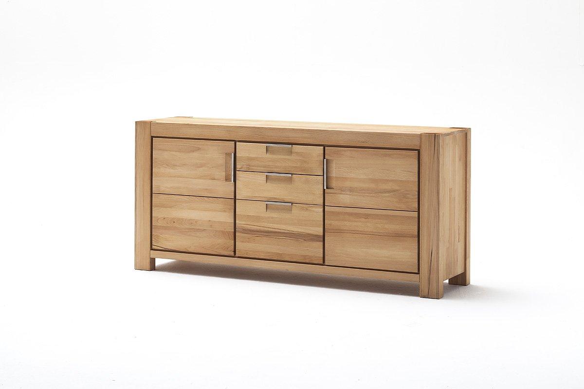 Kommode, Sideboard mit Schubladen + Türen, Höhe ca. 80 cm, Kernbuche Massivholz