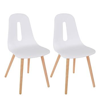 Sedia Da Cucina Plastica.Songmics Set Di 2 Sedie Da Pranzo Sedie Da Cucina In Plastica