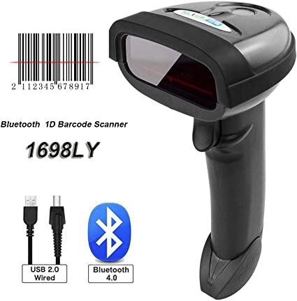 NETUM® Inalámbrica Bluetooth Barcode Scanner 32Bit portátil ...
