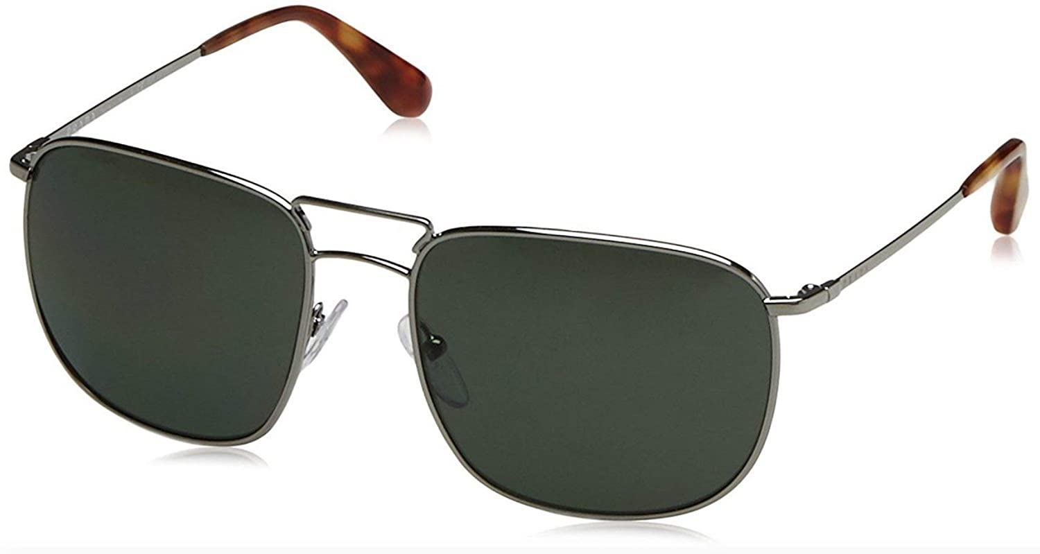 c261f978161b Prada Men PR 52TS 57 Ruthenium Green Polarized Sunglasses 57mm at Amazon  Women s Clothing store