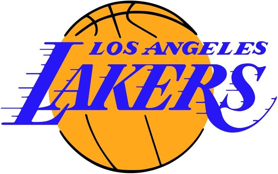 - Los Angeles Lakers NBA Basketball Sport Decal 14'' X 9''