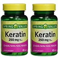 Spring Valley Keratin, 250 mg, 60 tabs (Pack of 2)