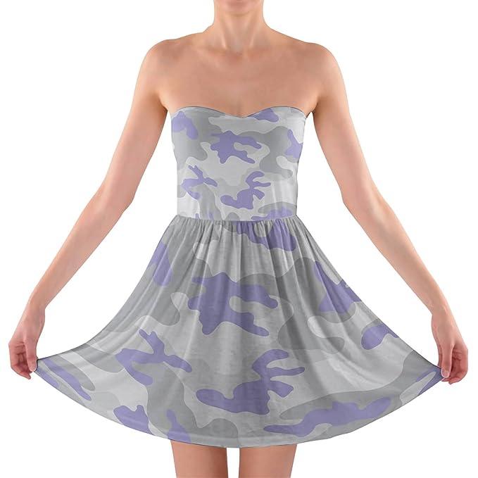 Camuflaje pastel lila sin tirantes sujetador Top vestido: Amazon.es: Ropa y accesorios