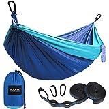 Kootek Camping Hammock Double & Single Portable Hammocks with 2 Tree Straps, Lightweight Nylon Parachute Hammocks for…