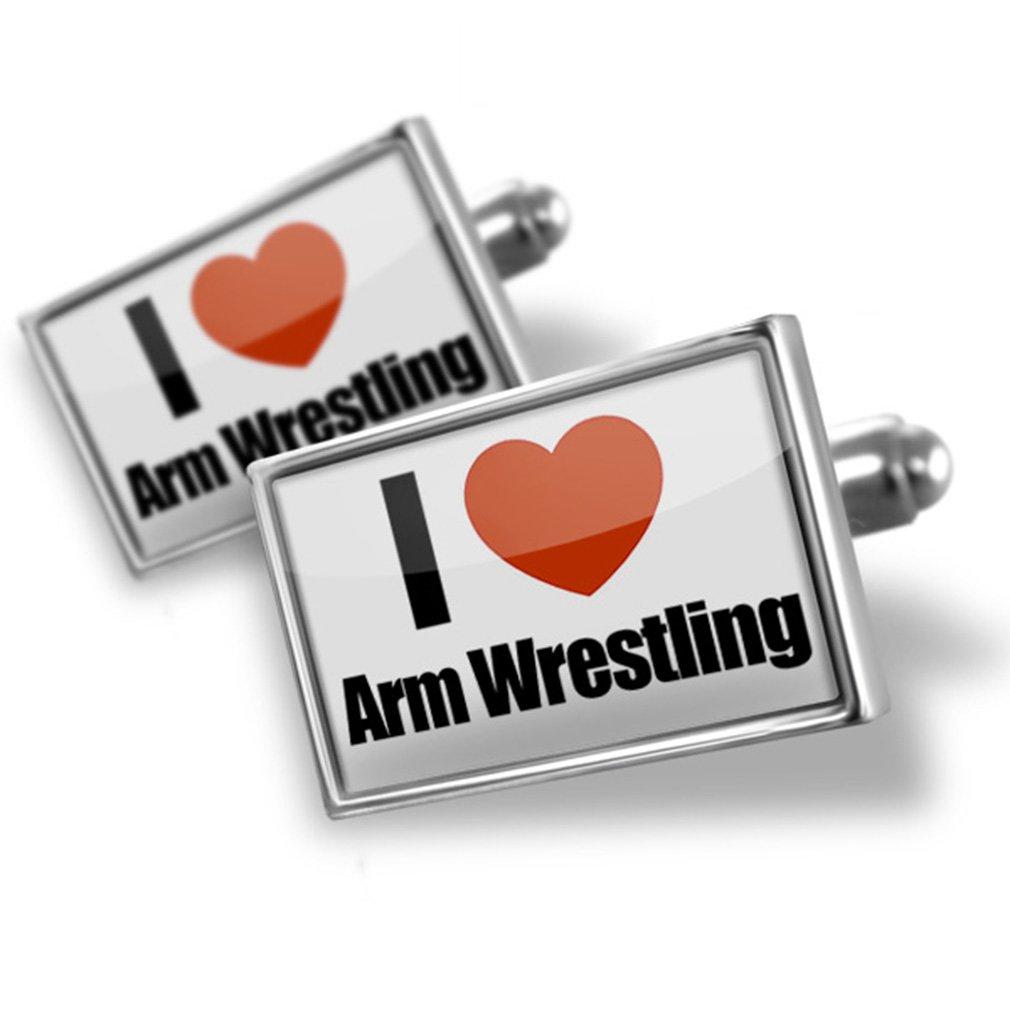 Cufflinks I Love Arm Wrestling - Neonblond