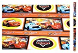 Disney Pixars Cars Lightning Mcqueen and Chick Hicks Giftwrap
