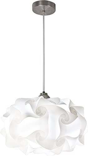 EQLight PP4M01 Cloud Light Contemporary Pendant, White, Medium
