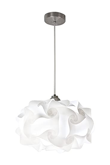 cloud lighting fixtures. EQLight PP4M01 Cloud Light Contemporary Pendant, White, Medium Lighting Fixtures