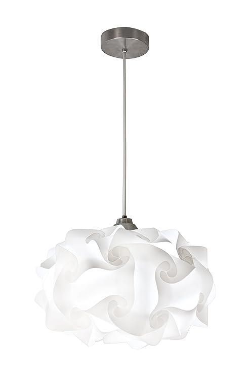 pretty nice ef7f0 0fa51 EQLight PP4M01 Cloud Light Contemporary Pendant, White, Medium