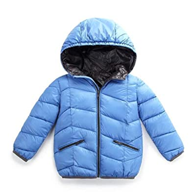 40eb988af7495 Baby Boy Girl Lightweight Hooded Down Jacket Kids Packable Quilted Coat