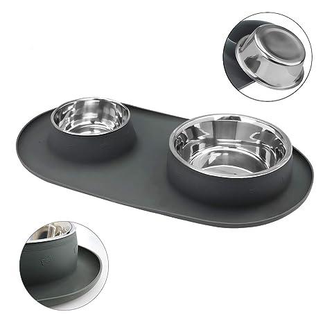 pet supplies wesen dog bowls 80 oz stainless steel dog food bowl
