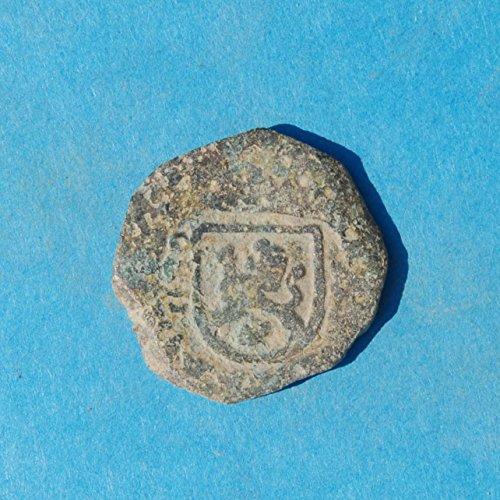 ES Spain Castle & Lion Colonial Caribbean Pirate Era Cob #24 Coin Good - Coins Castle