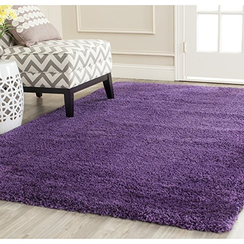 Safavieh Milan Shag Collection SG180-7373 Purple Area Rug (8' x 10') (Purple Area Rugs 8x10)