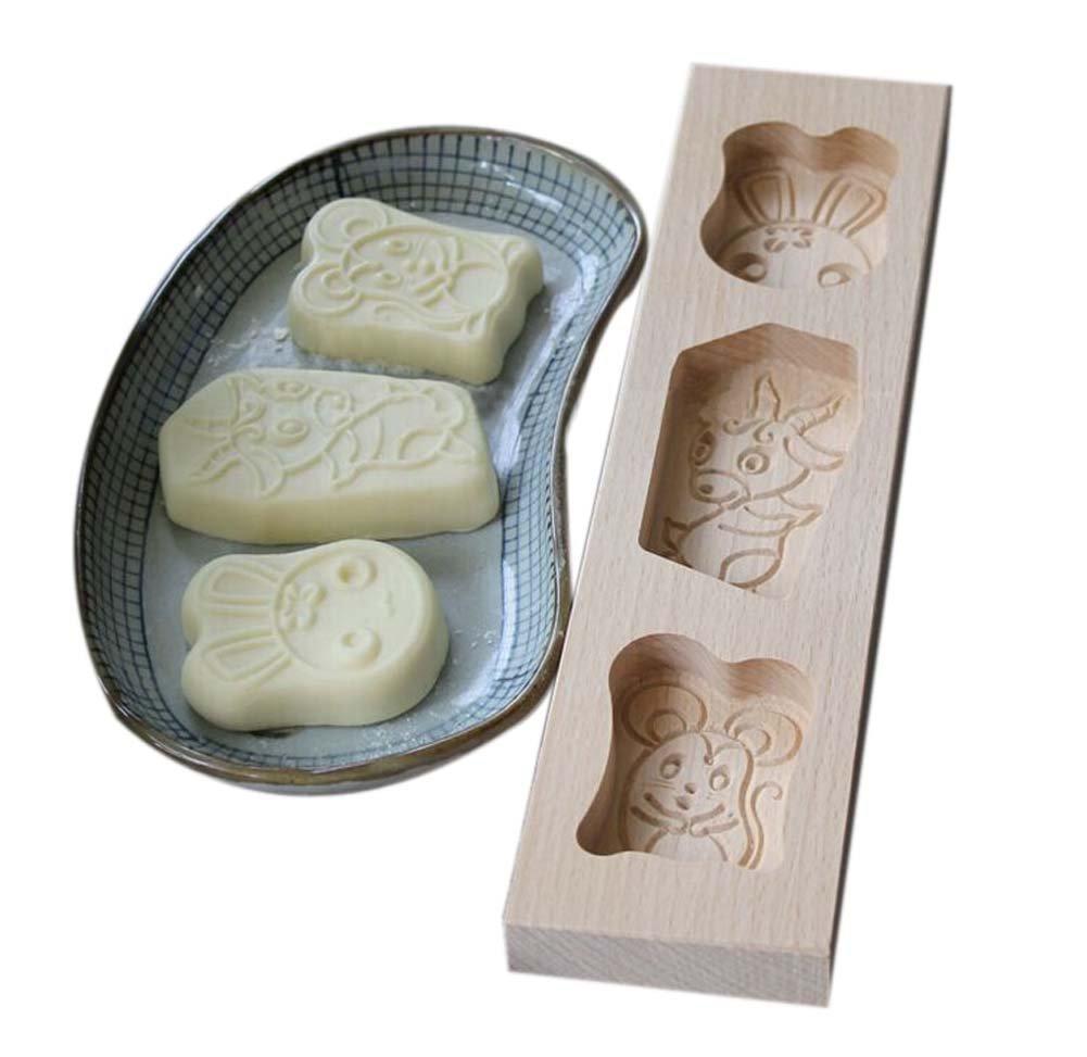Panda Superstore Dessert Baking Molds/Wooden Carving Baking Molds, Lovely Animal(297.22.2cm)