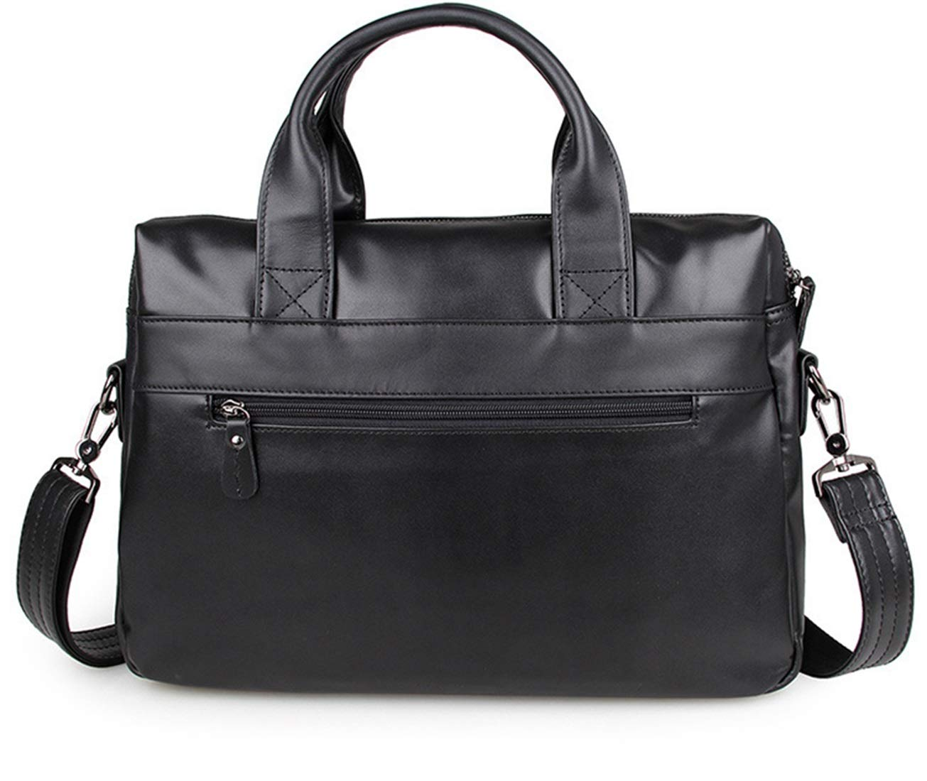 Color : Coffee RABILTY The First Layer of Leather Man Bag Shoulder Bag Slung 15 Business Briefcase