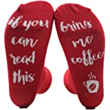 Dingyou Extraordinary Personalised Socks Letter Printed Socks If You Can Read This Bring Me Wine Coffee Beer Funny Socks Unisex Socks