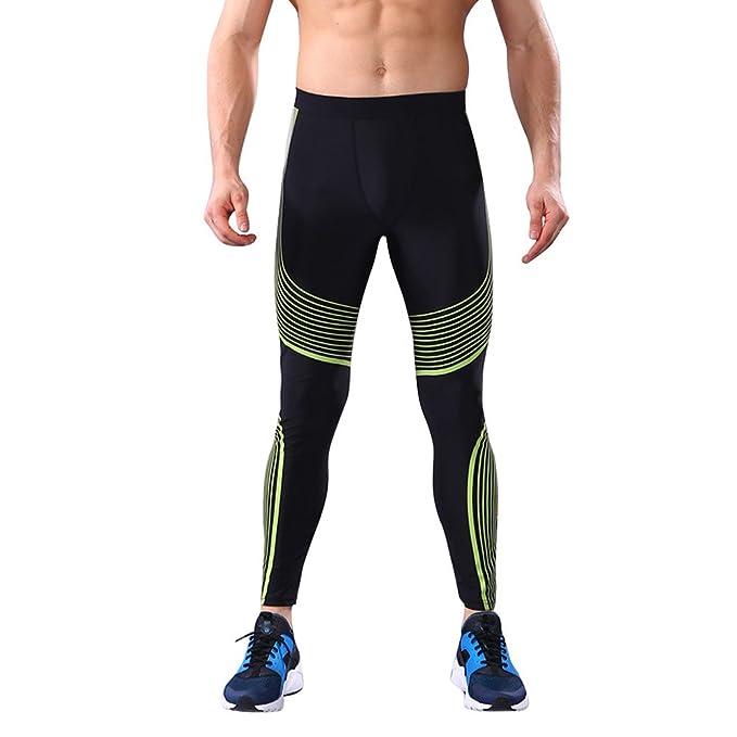 Leggings para Hombre, Pantalones Largo Negro Entrenamiento Fitness Sports Gym Running Yoga Athletic Pantalones Slim Fit: Amazon.es: Ropa y accesorios
