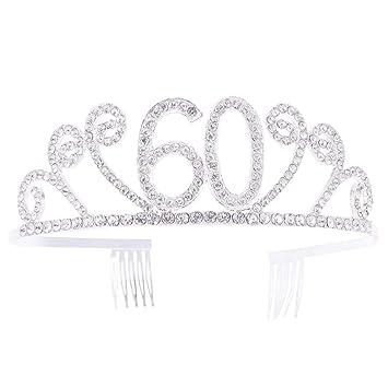 1pc 60 años de antigüedad, corona de cumpleaños y diamantes ...