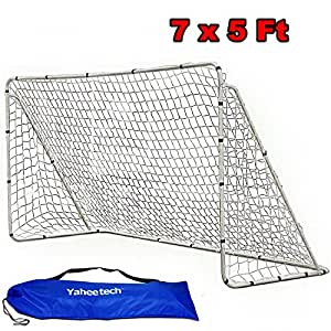 Yaheetech 7' x 5' x 2.5' Home Soccer Goal & Net Strong Straps Anchor Soccer Sports