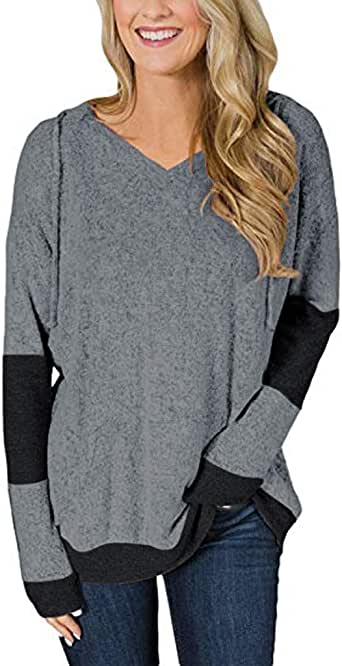 Plus Size Womens Fashion Long Sleeve Irregular Sweatshirt Loose Pullover Tops Blouse Sopzxclim