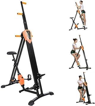 Acecoree 2 in1 Vertical Climber, escaladores Gym Ejercicio Fitness Stepper Vertical Escalada Plegable, Multi Función con Antideslizante diseño Entrenamiento de Cuerpo Entero Cross Trainer, Naranja: Amazon.es: Deportes y aire libre
