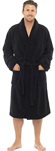 Mens Luxury Soft Coral Fleece Dressing Gown
