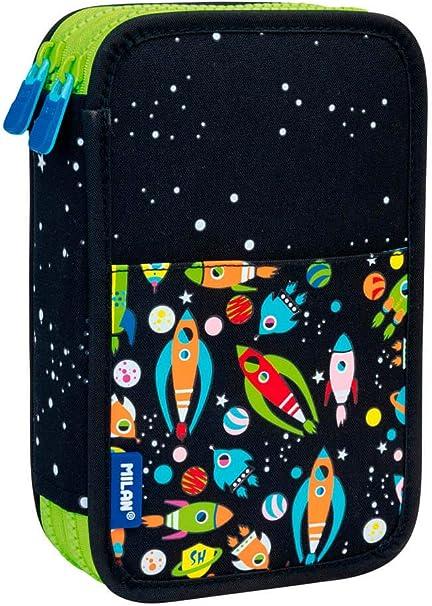 Estuche Milan Space Doble 36 Piezas: Amazon.es: Oficina y papelería