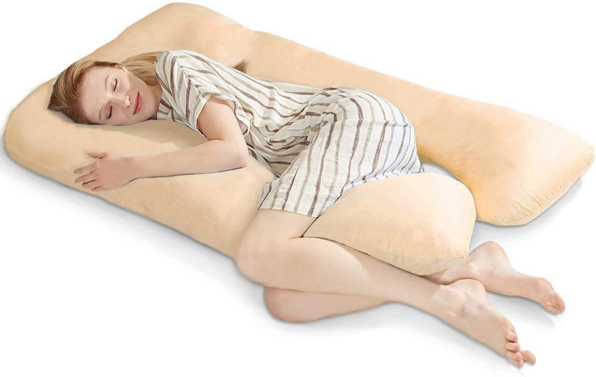 Comfort Collections Housse de coussin en forme de U ou de U 12FT U Pillowcase Cover Only Red