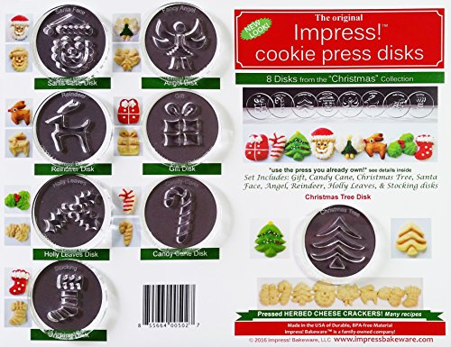 Christmas 8 Disk Set for Cookie Presses (Size P)