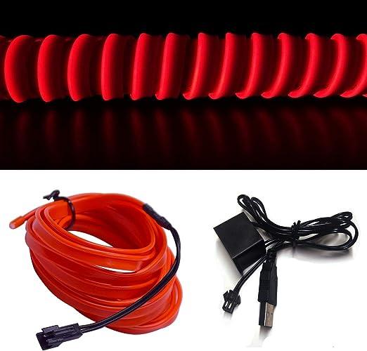 Amazon.com: M.best - Cable electroluminiscente con luz LED ...