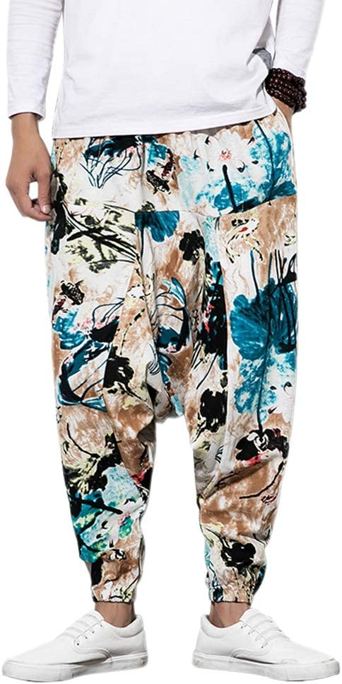 Jiaia Pantalones De Chandal Unisex Pantalones Aladdin Con Bolsillo Harem Pantalones Para Hombre Pantalones Estampados Amazon Com Mx Ropa Zapatos Y Accesorios