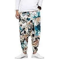 Pantalones de harén para hombre con pantalones de harén unisex estampados con bolsillo Pantalones holgados Bloomers…