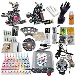 Nuevo estilo de la máquina del tatuaje kit 2 del tatuaje dispara 28 tintas envío libre DIY-248 para clearence