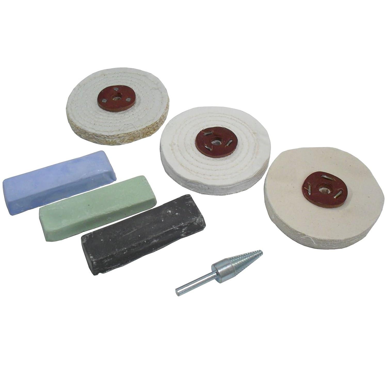 Budget Polishing Kit Coarse / Medium and Fine Mops 4' POL03 AB Tools