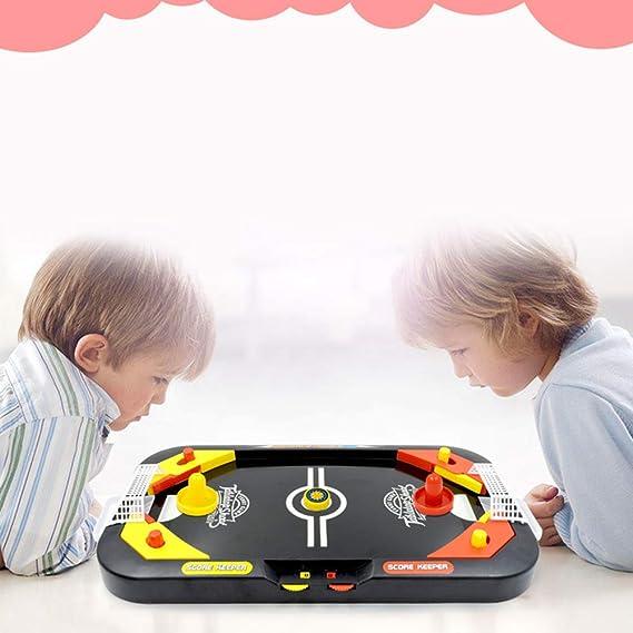 CLX Una Tabla de Doble Uso, Mesa de Hockey de Juguete/futbolín Stand-up Competencia Mini Juego Entre Padres e Hijos Juego de Tablero del Rompecabezas de los niños interactivos: Amazon.es: Deportes y aire