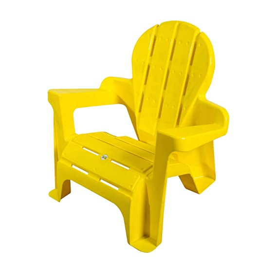 Amazon.com: Colorful Plastic Chairs for Kids (Yellow): Kitchen & Dining